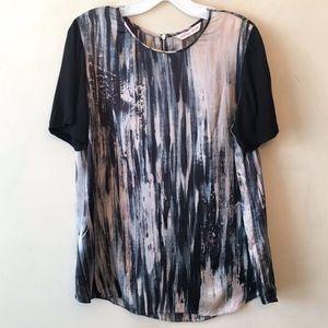 Rebecca Taylor Printed Silk Blouse Top